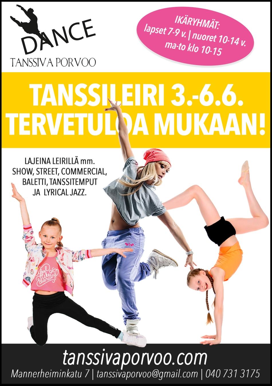tanssileiri porvoo, leiri porvoo, kesäleiri porvoo, tanssi porvoo, tanssiva porvoo, tekemistä lapsille kesällä porvoo